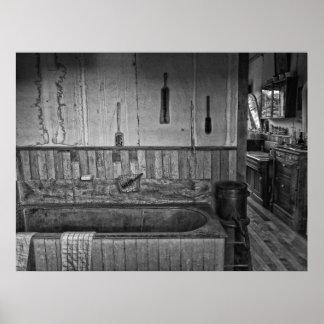 Vieux Bath victorien occidental de salon de coiffu Posters