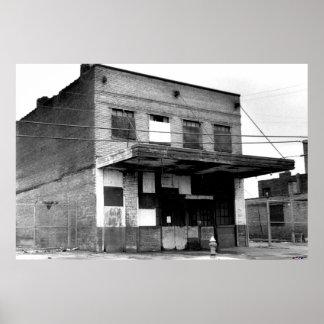 Vieux bâtiment d'abandon poster