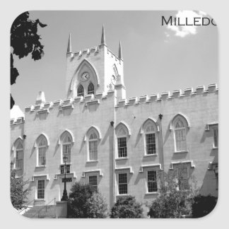 Vieux bâtiment de capitol - Milledgeville, la Autocollant Carré