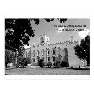 Vieux bâtiment de capitol - Milledgeville, la Carte Postale