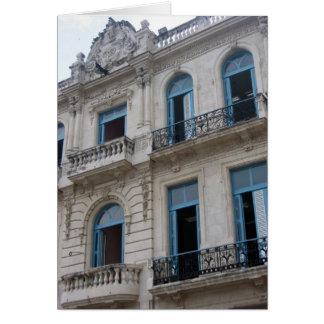 vieux bâtiment de la Havane Carte De Vœux
