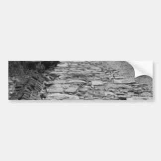 Vieux bâtiment. Mur en pierre grand Autocollant Pour Voiture