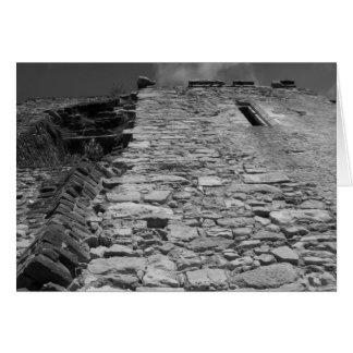 Vieux bâtiment. Mur en pierre grand Cartes De Vœux