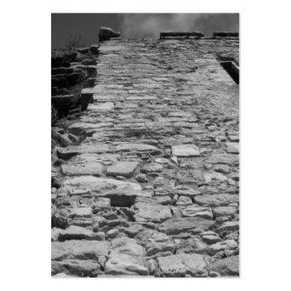 Vieux bâtiment. Mur en pierre grand Carte De Visite Grand Format