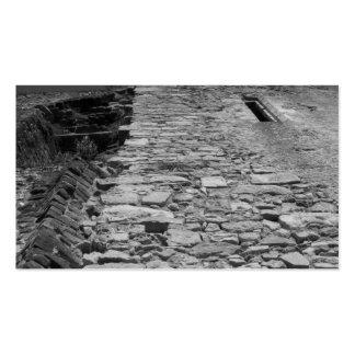 Vieux bâtiment. Mur en pierre grand Carte De Visite Standard