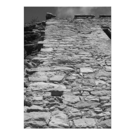 Vieux bâtiment. Mur en pierre grand Invitation Personnalisée