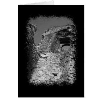 Vieux bâtiment. Murs en pierre avec la fenêtre Cartes De Vœux