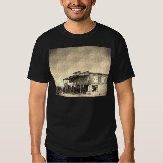 Vieux bâtiment occidental vintage t-shirt