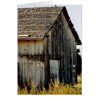 Vieux bâtiment rustique carte de vœux