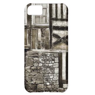 Vieux bâtiment rustique en bois et de pierre coque iPhone 5C