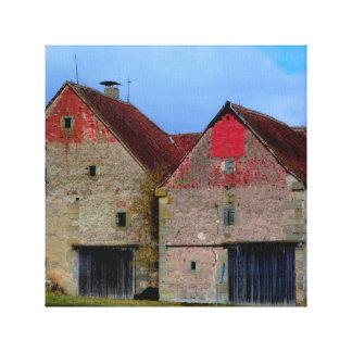 Vieux bâtiment toile tendue