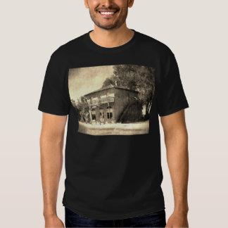 Vieux bâtiment vintage de pierre t-shirt