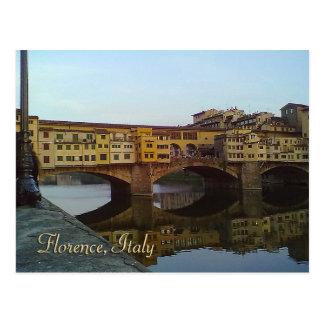 Vieux cadeau de Florence Italie de pont de Ponte Cartes Postales