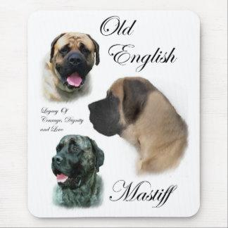 Vieux cadeaux anglais de mastiff tapis de souris