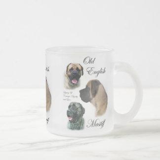 Vieux cadeaux anglais de mastiff tasse givré