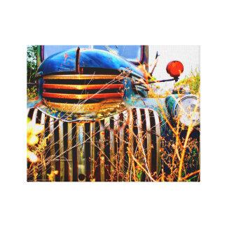 vieux camion chevy sur la toile