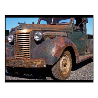 Vieux camion de Chevy - carte postale