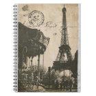 vieux carnet de carte postale de Paris
