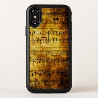 Vieux cas de l'iPhone X d'OtterBox de feuille de
