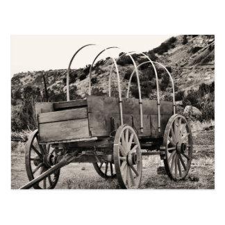 Vieux chariot couvert carte postale