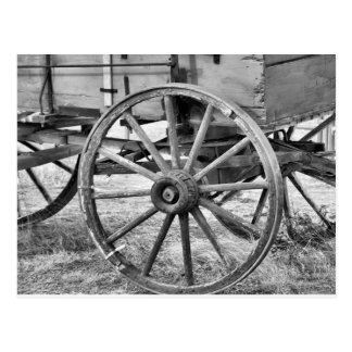 Vieux chariot occidental carte postale