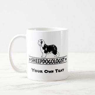 Vieux chien de berger anglais humoristique mug