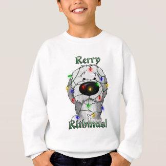 Vieux chien de berger anglais - lumières de Noël Sweatshirt