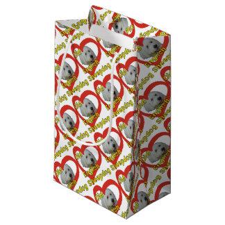 Vieux chien de berger anglais petit sac cadeau