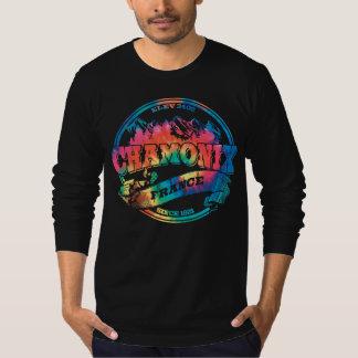 Vieux colorant de cravate de cercle de Chamonix T-shirt