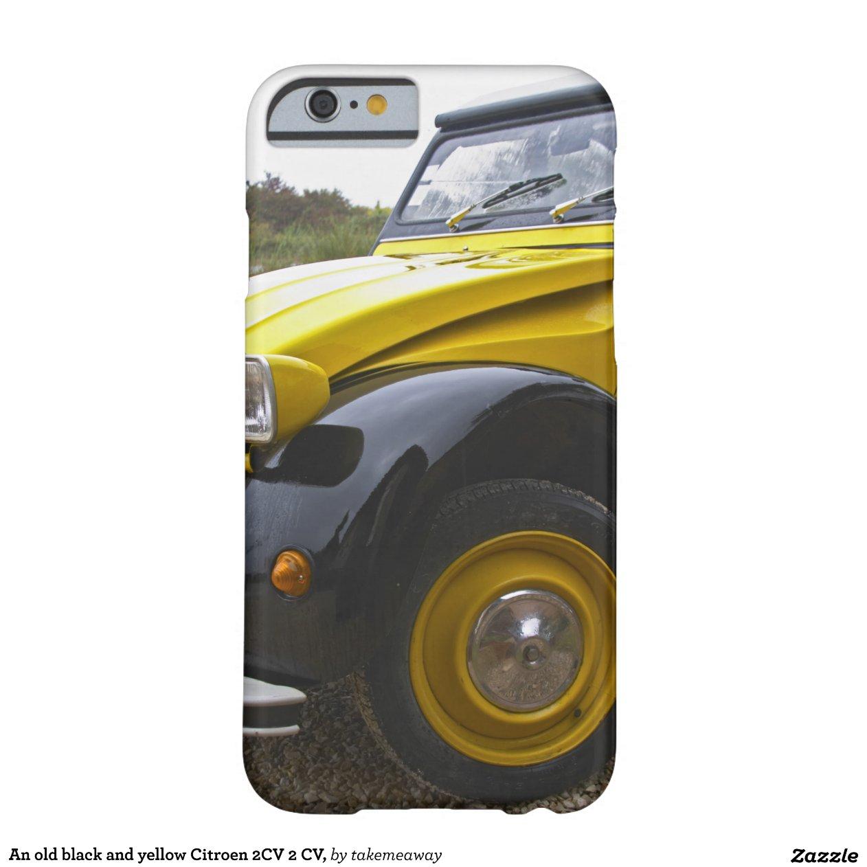 vieux cv noir et jaune de citroen 2cv 2  coque iphone 6