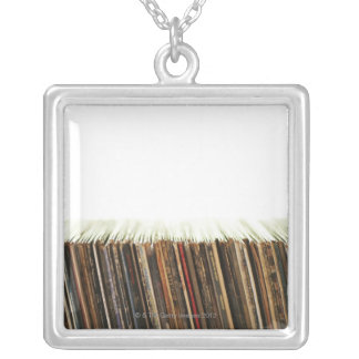 Vieux disques pendentif carré