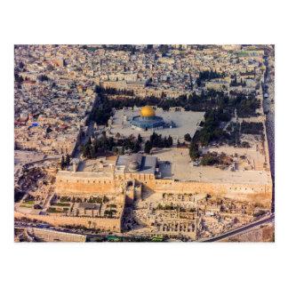 Vieux dôme de Jérusalem de ville de l'Esplanade Carte Postale