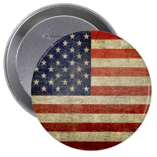 Vieux drapeau américain badges avec agrafe