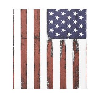 Vieux drapeau américain grunge bloc-note