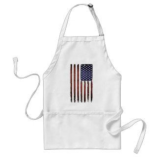 Vieux drapeau américain grunge tablier