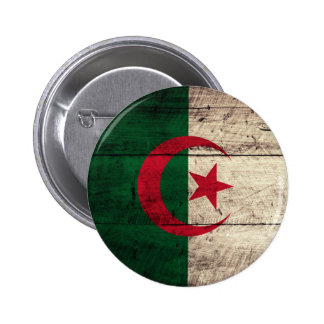 Vieux drapeau en bois de l Algérie Badges Avec Agrafe