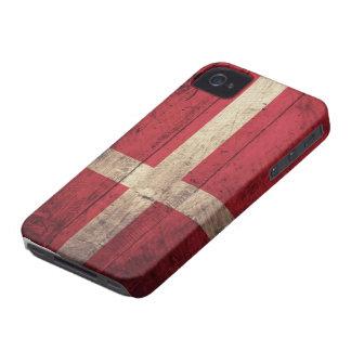 Vieux drapeau en bois du Danemark Coques Case-Mate iPhone 4