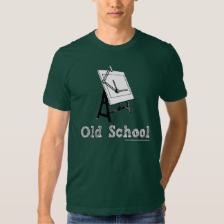 Vieux-École-Rédiger-Panneau-blanc T-shirts
