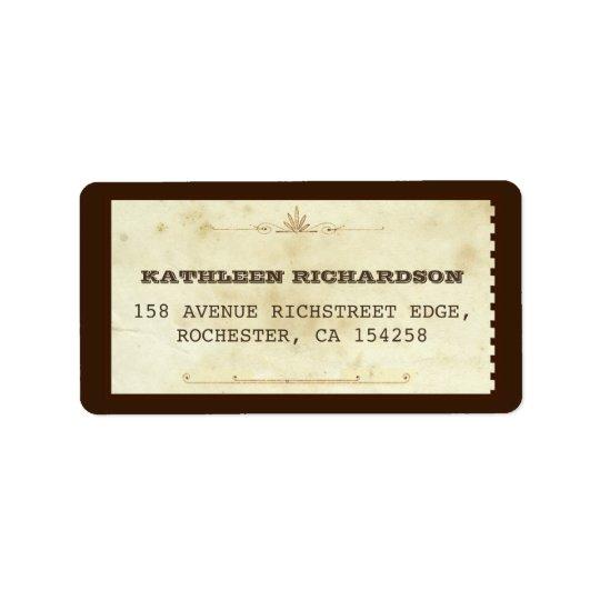 vieux étiquettes de adresse typographiques