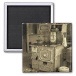 Vieux fourneau magnets pour réfrigérateur