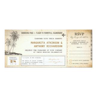vieux invitations de mariage de vol de carte