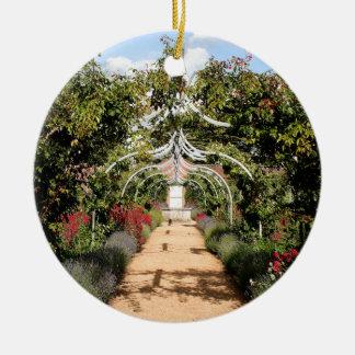 Vieux jardin anglais ornement rond en céramique