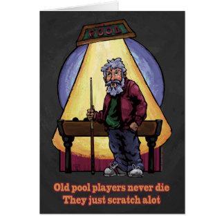 Vieux joueurs de piscine carte de vœux