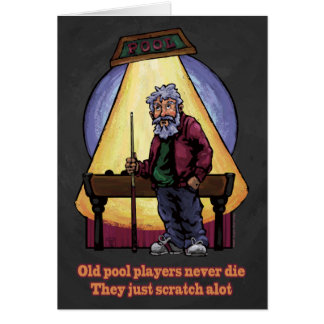 Vieux joueurs de piscine cartes