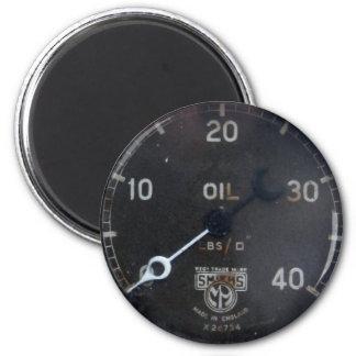 vieux mesure/instrument/cadran/mètre de pression d magnet rond 8 cm