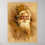 Vieux Monde le père noël, St victorien vintage Nic Posters