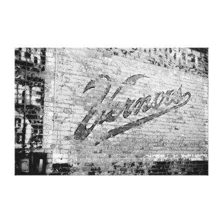 Vieux mur de briques d'Ann Arbor Michigan Vernors Toiles Tendues