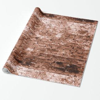 Vieux mur de briques papiers cadeaux noël