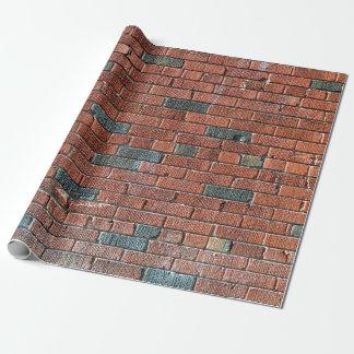 Vieux mur de briques rougeâtre/brunâtre papiers cadeaux noël