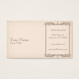 Vieux papier antique cartes de visite